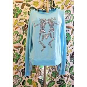 Wildfox Dancing Twin Skeleton Halloween Sweater